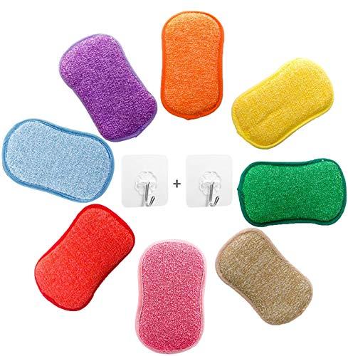 AUERVO Microvezel-schuursponzen voor de keuken, dubbelzijdige sponzen, topreiniger, poetsspons, pannenreiniger, 5 stuks…