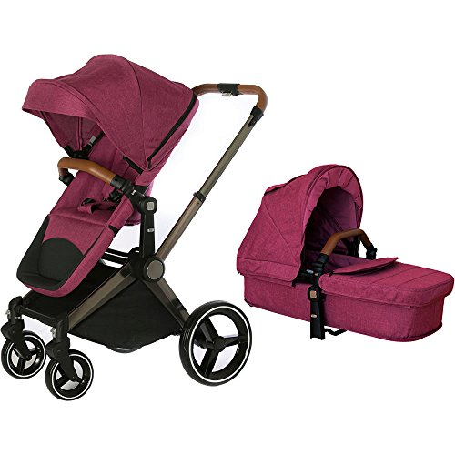 Read About Venice Child Kangaroo Stroller with Carrycot - Purple