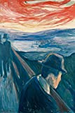 1art1 Edvard Munch - Die Verzweiflung, 1892 XXL Poster 120