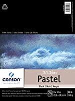 Mi-Teintes Pastel Pad, Black 9X12 Fold Over by Canson