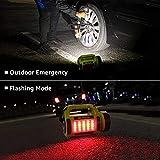 LE LED Handscheinwerfer 1000 Lumen, Wiederaufladbare CREE Akku Handlampe mit 3600mAh Powerbank, 10W Dimmbare Taschenlampe inkl. 3 Lichtmodi 2 Helligkeitsstufen, USB-Kabel für Notfall Camping usw. - 4