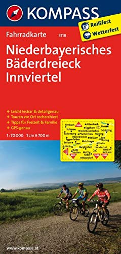 KOMPASS Fahrradkarte Niederbayerisches Bäderdreieck - Innviertel: Fahrradkarte. GPS-genau. 1:70000 (KOMPASS-Fahrradkarten Deutschland, Band 3118)