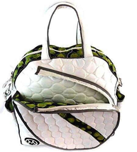 ModaMoo Womens Reflective Tennis Bag, Designed in New York, White