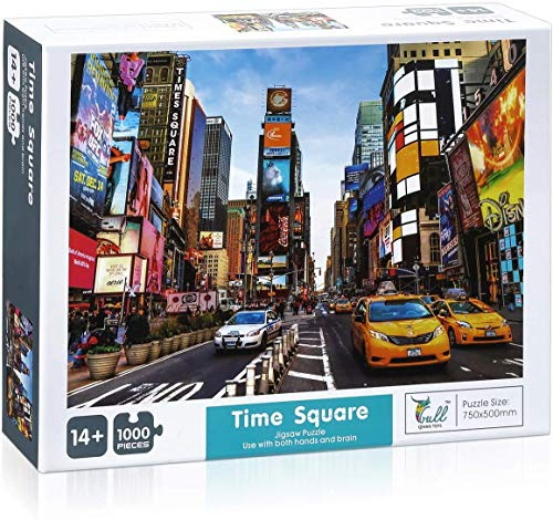BISOY Times Square 1000 Piece Jigsaw Puzzle Children Adult - Times Square - Game Toy Gift Large Jigsaw Puzzle Artwork for Adults and Teens
