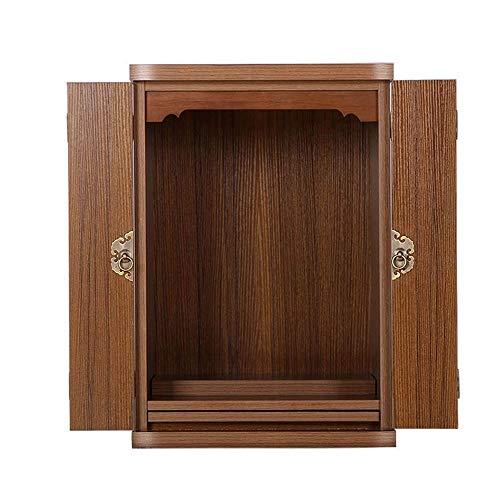 """DYYD 18.1"""" Wand-buddhistischen Schreine Haushaltsklein buddhistische Schränke mit Türen, Geeignet for Place Your Spiritual Dekoration"""