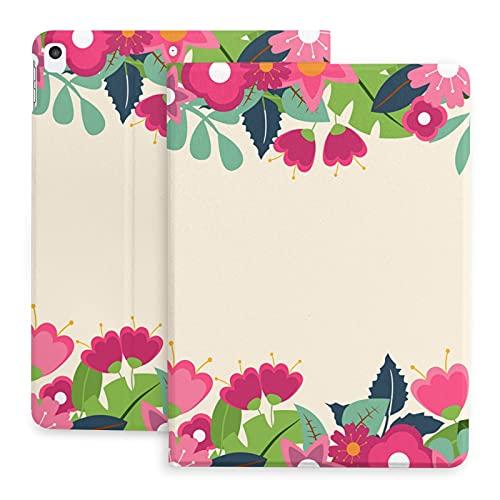 Sweet grape Funda para iPad 2020 de 10,2 pulgadas con lápiz, fondo floral flores rosa planta primavera, soporte trasero cubierta protectora cuerpo completo TPU