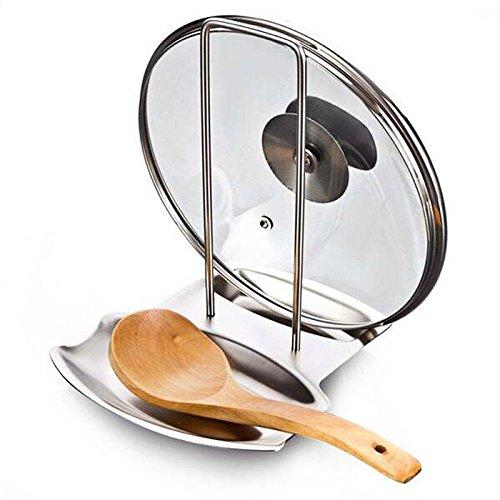 Denshine Soporte de Tapas y Cucharas Organizador para Cocina de Acero Inoxidable...
