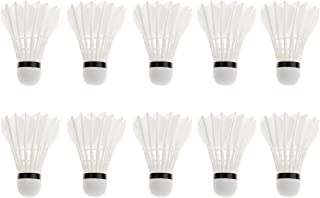 Miran Creations Badminton Shuttlecock Pack of 10 Feather Shuttle Cock (White)