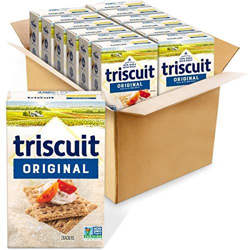 Triscuit Original Whole Grain Wheat Crackers, 102 Ounce (Pack of 12) -  Mondelēz Global LLC, 980053510