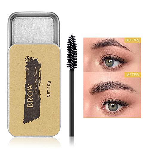 Soap Brows, Augenbrauen Styling Seife, Eyebrow Shaping Soap, langlebiges Augenbrauen-Styling, wasserdichtes, wischfestes Seifenwachs für natürliche Augenbrauen