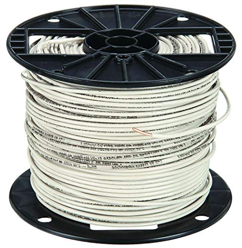 Building Wire, THHN, 12 AWG, White, 500ft