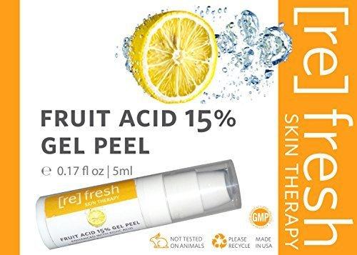 Fruit Acid 15% Gel Peel (Lactic Acid, Glycolic Acid, Kojic Acid) 5ml Small Travel Trial Size