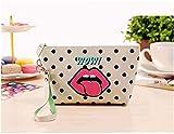 Haotfire Women Portable Wallet Purse Handbag Travel Cosmetic Bag Makeup Case Pouch Toiletry Wash Organizer