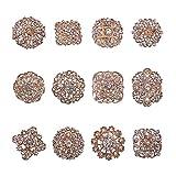 PandaHall 24 Piezas de broches de Flores de Cristal de Diamantes de imitación de Oro Alfileres para el Ramo de la Fiesta de Bodas Vestido de Mujer Decoraciones
