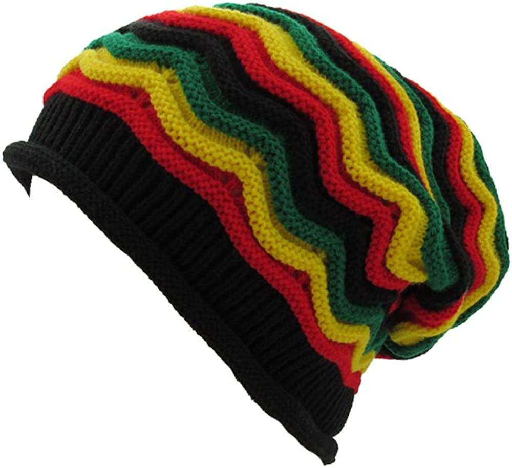 dkhawaii Genuine Free Shipping collections Jamaica Reggae Stripe Rasta Baggie Max 52% OFF Slouchy
