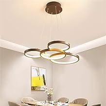 Nowoczesna lampa wisząca LED z pilotem zdalnego sterowania, przyciemniana, z regulacją wysokości, żyrandol do salonu, jada...