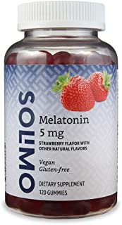 Amazon Brand - Solimo Melatonin 5mg, 120 Gummies (2 Gummies per Serving), Helps with occasional sleeplessness