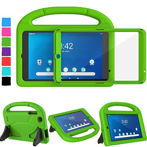 TIRIN Walmart Onn 8 Inch Tablet Case 2019, Onn 8 Tablet Case for Kids, Built-in Screen Protector Lightweight Shockproof Handle Stand Kids Case for Walmart Onn 8 Android 2019 ONA19TB002 NOT 2020, Green