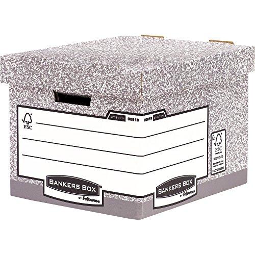 Bankers Box 0081801 Standard Heavy Duty, Schreibtischzubehör und Ablage, 10er Pack