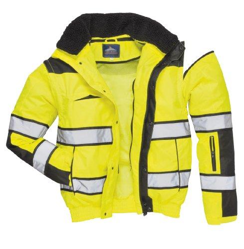 4in1 Warnschutzjacke Regenjacke Winterjacke Arbeitsjacke gelb Gr. XL