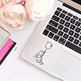 Winnie The Pooh Wall Decal Winnie The Pooh Sticker Laptop Decals for Apple MacBook Pro Air Decoration, Cute Pooh Bear Decal Car Window Decor