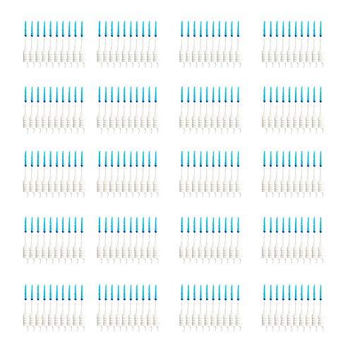 starall 200PCS Interdentalbürsten Kunststoff Silikon Dental Zähne Stick Bürste Einweg Oral Care Bürste
