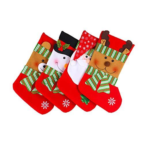 puhuiying Christmas Tree Hanging Stocking Santa Gift Santa Gift Holiday Stocking (Multicolor)
