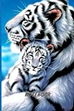 Notebook: White Tigers Notebook Journal / lined 6×9 inches 120 pages notebook / for kids, boys and adults / for school, work or college.