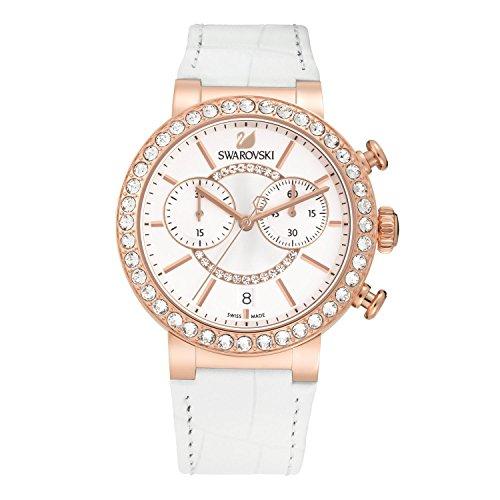 Swarovski Damen Analog Quarz Uhr mit Leder Armband 5080602