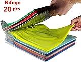 Nifogo kleiderschrank Organizer,Closet Organizer,Kleidung Folding Organizer,Faltbrett für Erwachsene,Regelmäßige Größe(20PACK)