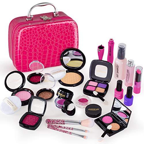 LoKauf 21St. Kinderschminke Set Schminkkoffer Kosmetik Koffer Make Up Set Rollenspiel für Mädchen Kinder Prinzessin