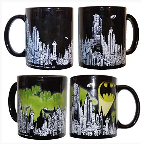 Batman Skyline Farbwechsel Tassen Kaffeetassen Loot Crate Exclusive