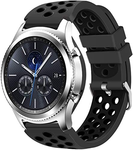 Chainfo Correa de Reloj Reemplazo Compatible con Fossil Homme Montre Connectée 5ème Génération/Gen 5 (44MM) / Gen 5E (44MM), la Correa de Reloj Watch Band Accessorios (22mm, Pattern 4)