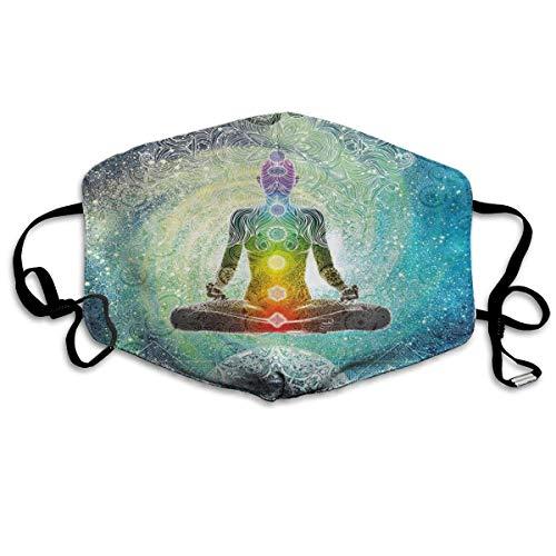 Multifunktionale Gesichtsschutzhülle,Yoga Mandala Zen Meditation Hippie Chakra Gedruckt Unisex Waschbar Wiederverwendbare Gesichtsdekorationen Für...
