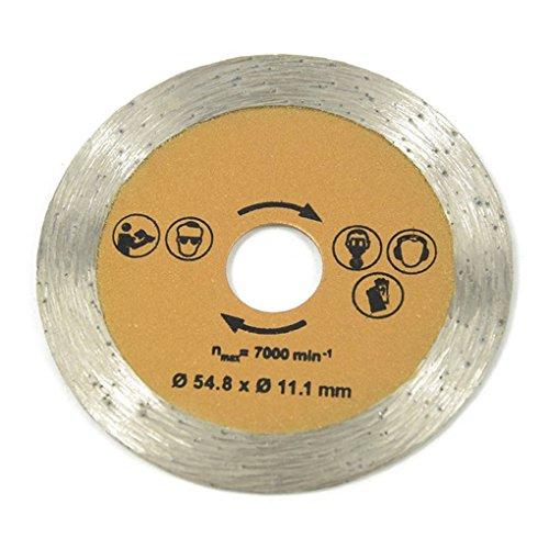 Guangcailun 3pcs 54.8mm Dieter circular vio la lámina de acero de alta velocidad de acero circular Herrientas de la carpintería con mandril