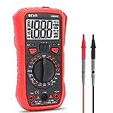 BEVA Multimetro Digitale 2000 Conti, Tester Digitale per Misurare Corrente DC e Tensione AC/DC, Resistenza, Diodo, Frequenza, Continuità