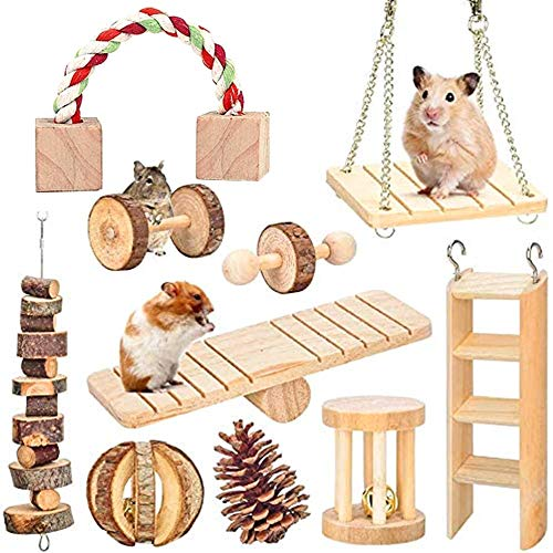 ZMS Pet Hammock Hamster Hanging Toys Pet Cage Toy Set for Small Animal Squirrel Chinchilla Rat Guinea Pigs Playing Sleeping