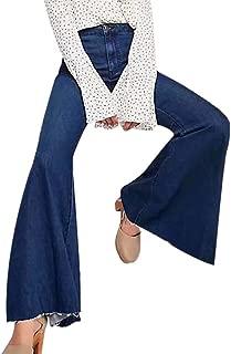 Sale Bootcut Jeans Women,NEWONESUN Winter Casual Vintage Denim Sexy HornPants Trousers Flares