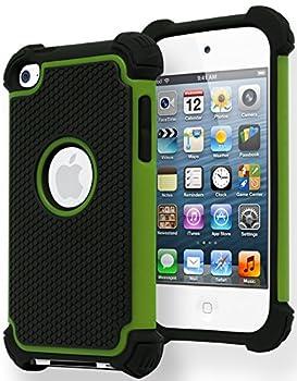 Bastex Hybrid Armor Case for Apple iPod Touch 4 4th Generation - Green & Black