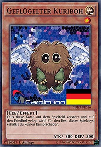 Geflügelter Kuriboh - SDHS-DE016 - Common - Yu-Gi-Oh! - Deutsch - 1. Auflage - Mit Toploader - Cardicuno