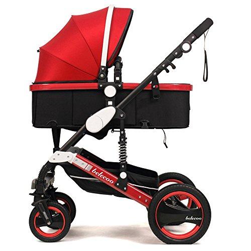 WAWDZG Kinderwagen Accessoires Multifunctionele Handschoen Hoge Landschap Vouwwagen Kan Zitten Lie Vier Schokabsorberende Winter Baby Trolley Babywagen