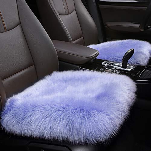 YJ.GWL Soft High Pile Light Purple Faux Sheepskin Fur Chair Sofa Cover (20''x20''), Square Area Rugs Seat Car Cushion Throw