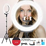 ZOMEi Ring Light Kit:16'/40cm Outer 38W 3200-5500K Dimmable LED Ring Light, Light Stand, Carrying Bag for Camera,Smartphone,YouTube,Self-Portrait Shooting (16 inch)