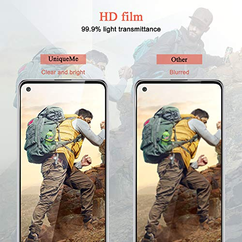 [2 Pack] UniqueMe Screen Protector for Samsung Galaxy A21S Tempered Glass,High Definition Easy Installation [Fingerprint Free] - Samsung Galaxy A21S
