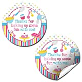 Bake Up Some Fun Cooking & Baking Birthday Thank You Sticker Labels for Girls, 40 2