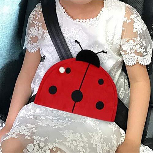 VNASKH Cinturón de Seguridad para Coche, ajustador Triangular, cinturón de Seguridad Transpirable para Coche, Dispositivo de Ajuste, Cubierta, Almohadilla Protectora para bebé y niño