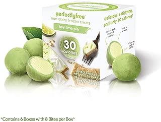 PERFECTLY FREE Frozen Bites - Vegan Friendly Frozen Treats, Allergy-Free, Non-Dairy, Non-GMO, Like Mochi but Healthier (Key Lime Pie) (6 Pack)