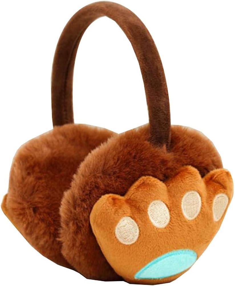 Cute Animal Soft Earmuffs Winter Warm Outdoor Ear Covers Headband Fur Ear warmer,#C8