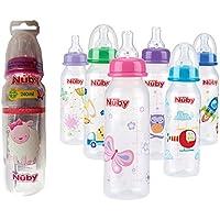 Nuby ID1486 Botella Impresa con Cuello Estándar, 240 ml, Multicolor