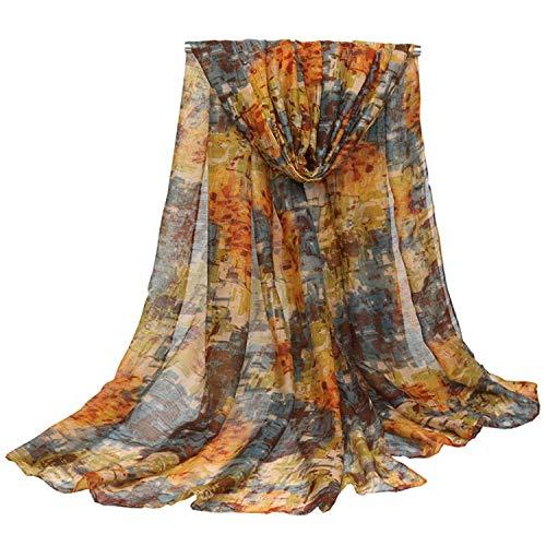 Udol Bufanda de Invierno cálido Playa geométrica Impresa de Las Mujeres Sun Shaw Spring y Bufandas de otoño Hilos de Hilo 180 * 90 cm de Toalla de Playa j0308 (Color : 03, Size : 180cm*90cm)